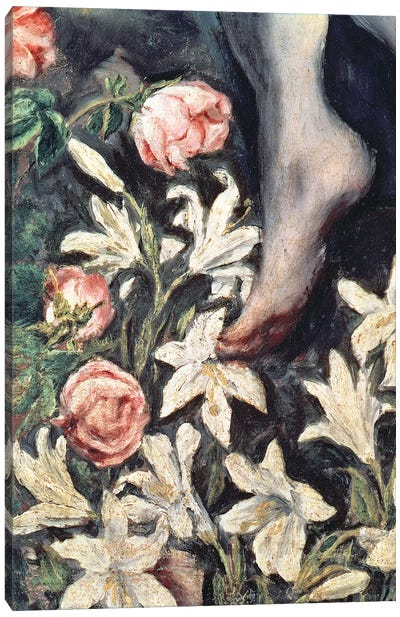 Detail Of Flowers, The Immaculate Conception, 1607-13 Canvas Art Print