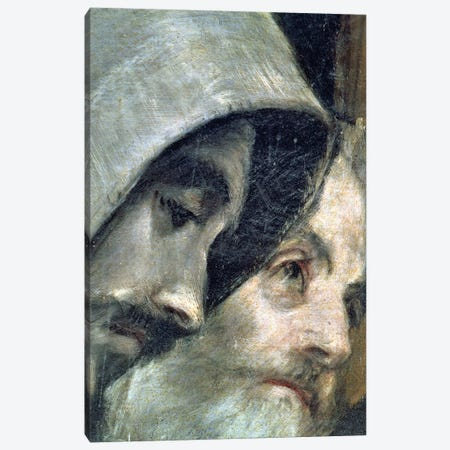 Detail Of Franciscans, The Burial Of Count Orgaz (Illustration of a Local Legend), 1586-88 Canvas Print #BMN6129} by El Greco Canvas Wall Art