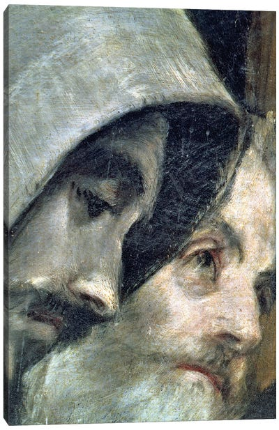 Detail Of Franciscans, The Burial Of Count Orgaz (Illustration of a Local Legend), 1586-88 Canvas Art Print