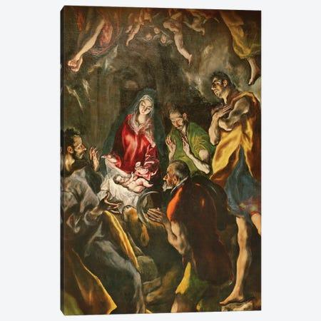 Detail Of The Shepherds, The Adoration Of The Shepherds (Santo Domingo el Antiguo Altarpiece), c.1603-14 (Museo del Prado) Canvas Print #BMN6133} by El Greco Canvas Art Print