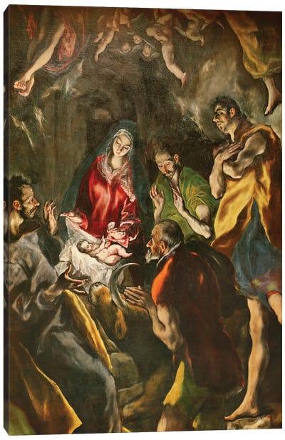 Detail Of The Shepherds, The Adoration Of The Shepherds (Santo Domingo el Antiguo Altarpiece), c.1603-14 (Museo del Prado) Canvas Art Print