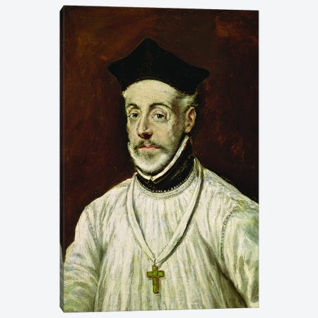 Don Diego de Covarrubias y Leiva, c.1600-05 Canvas Print #BMN6135} by El Greco Canvas Wall Art