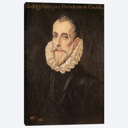 Don Rodrigo Vazquez de Arce Canvas Print #BMN6136} by El Greco Canvas Art