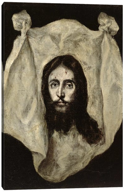 Face Of The Christ Canvas Art Print