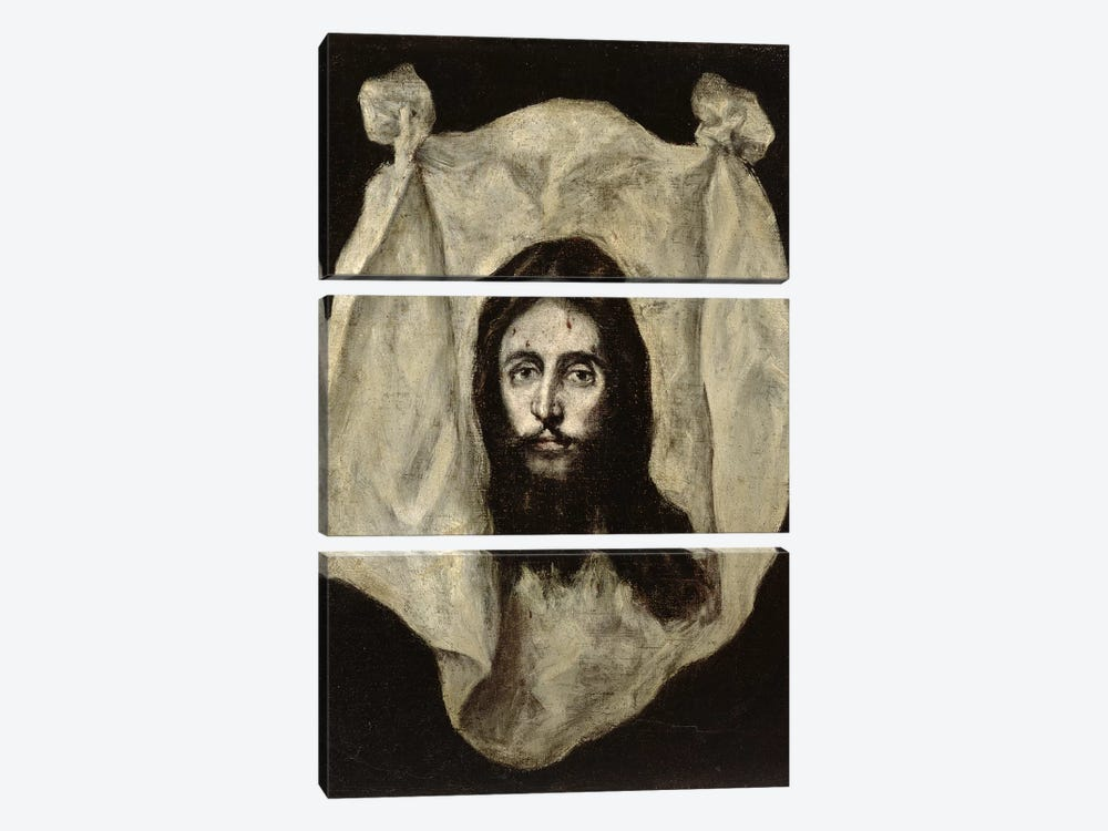 Face Of The Christ by El Greco 3-piece Canvas Wall Art