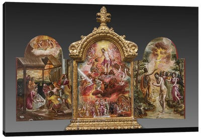 Front Side Of El Greco's Portable Altar Canvas Art Print