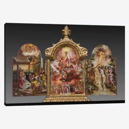 Front Side Of El Greco's Portable Altar Canvas Print #BMN6138} by El Greco Canvas Art Print