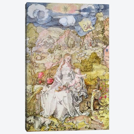Madonna and Child  Canvas Print #BMN613} by Albrecht Dürer Art Print