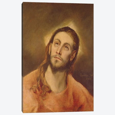 Head Of Christ, 1587-96 Canvas Print #BMN6140} by El Greco Canvas Art