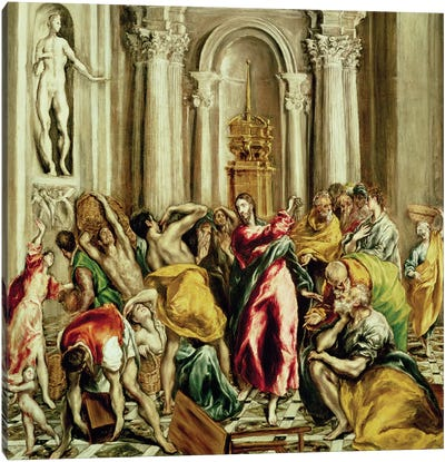 Jesus Driving The Merchants From The Temple, 1610-14 Canvas Art Print