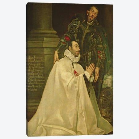 Julian Romero de las Azanas With St. Julian, 1587-97 Canvas Print #BMN6145} by El Greco Canvas Art Print