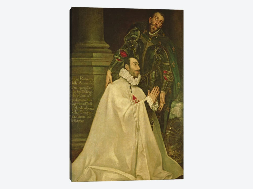 Julian Romero de las Azanas With St. Julian, 1587-97 by El Greco 1-piece Canvas Art Print