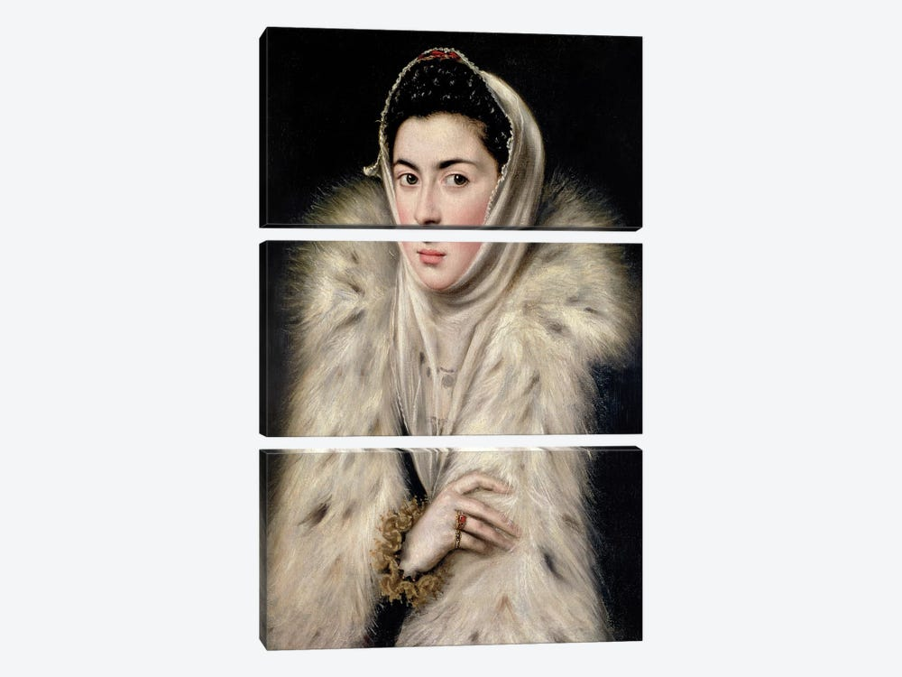 Lady In A Fur Wrap (Stirling Maxwell Collectioun At The Pollok House) 3-piece Canvas Artwork