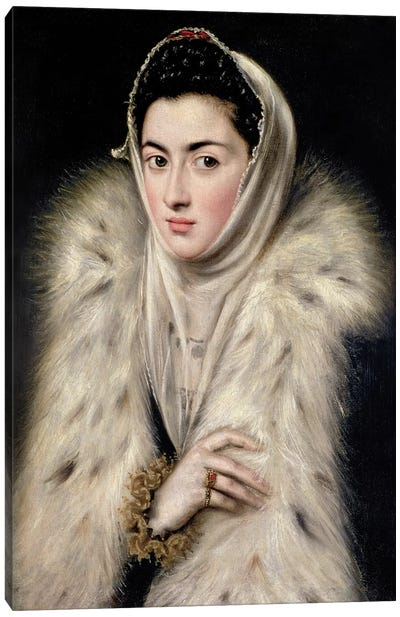 Lady In A Fur Wrap (Stirling Maxwell Collectioun At The Pollok House) Canvas Art Print