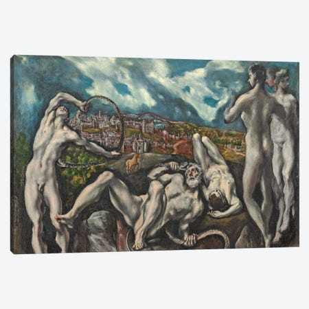 Laocoon, c.1610-14 Canvas Print #BMN6148} by El Greco Canvas Art