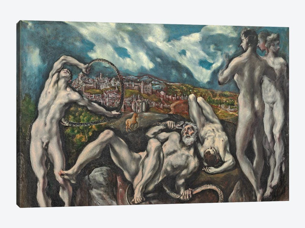 Laocoon, c.1610-14 by El Greco 1-piece Canvas Artwork