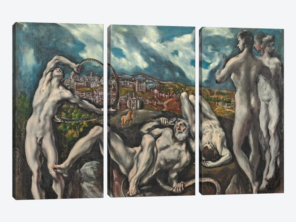 Laocoon, c.1610-14 by El Greco 3-piece Canvas Artwork