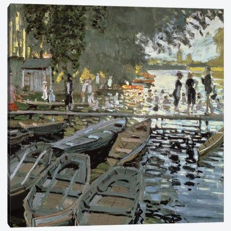 Bathers at La Grenouillere, 1869   Canvas Print #BMN614} by Claude Monet Canvas Artwork