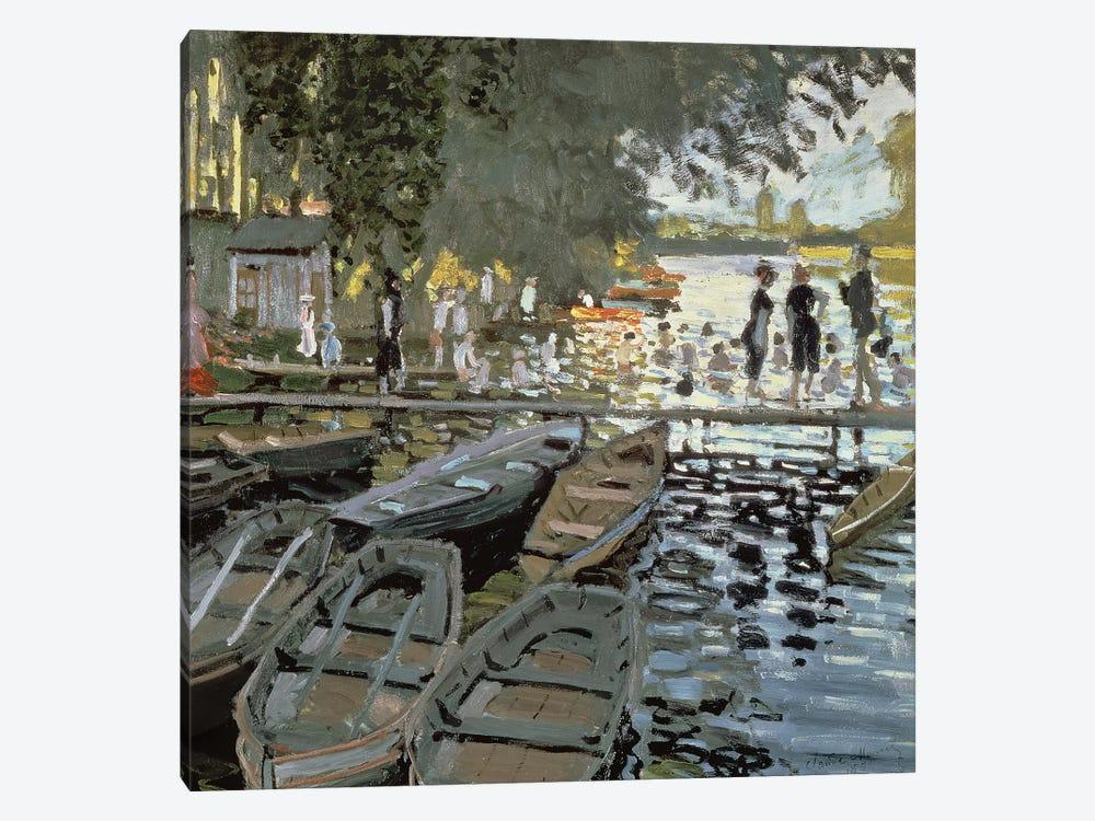 Bathers at La Grenouillere, 1869   by Claude Monet 1-piece Canvas Wall Art
