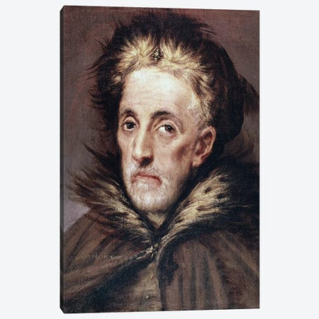 Man Canvas Print #BMN6150} by El Greco Canvas Print