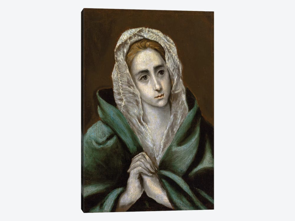 Mater Dolorosa by El Greco 1-piece Canvas Art