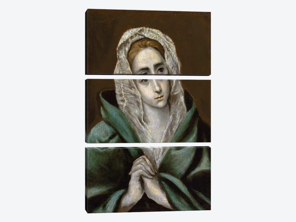 Mater Dolorosa by El Greco 3-piece Canvas Wall Art