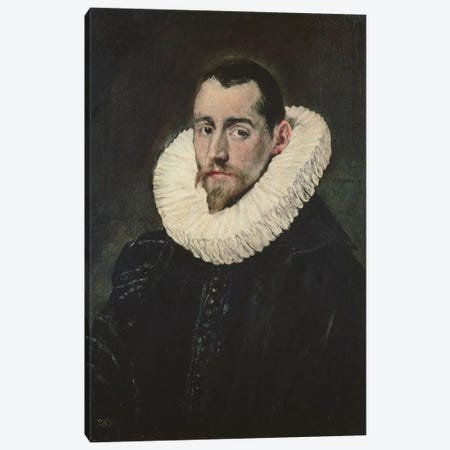 Portrait Of A Young Knight Canvas Print #BMN6154} by El Greco Canvas Art