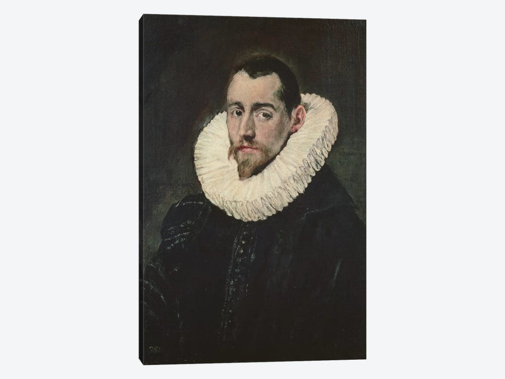 Portrait Of A Young Knight by El Greco 1-piece Canvas Print