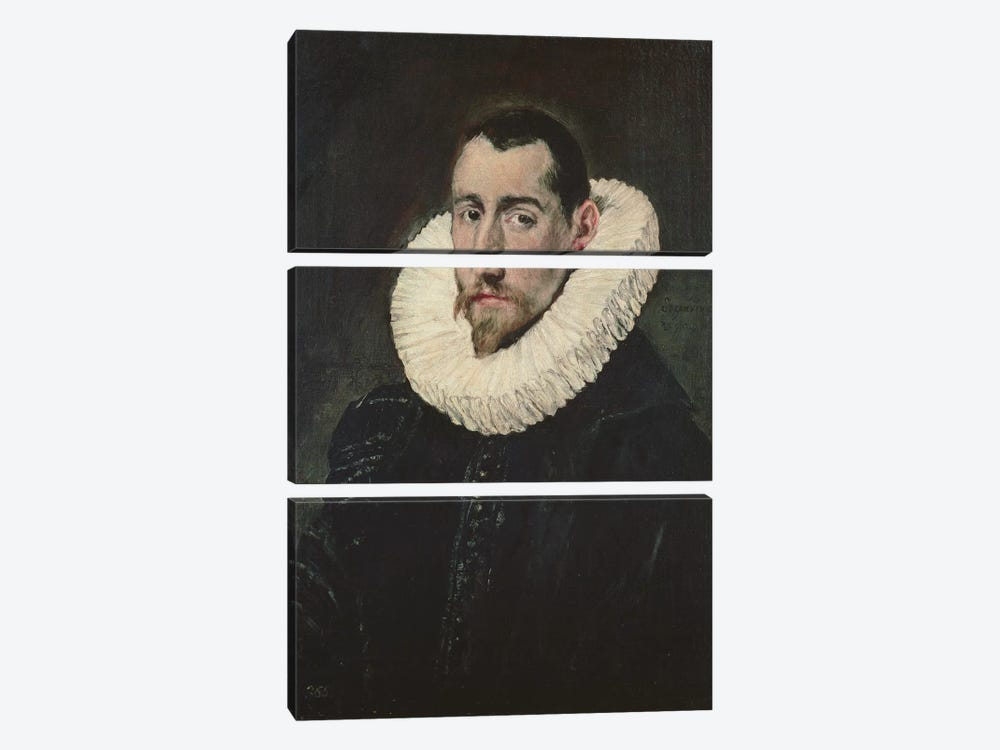 Portrait Of A Young Knight by El Greco 3-piece Art Print