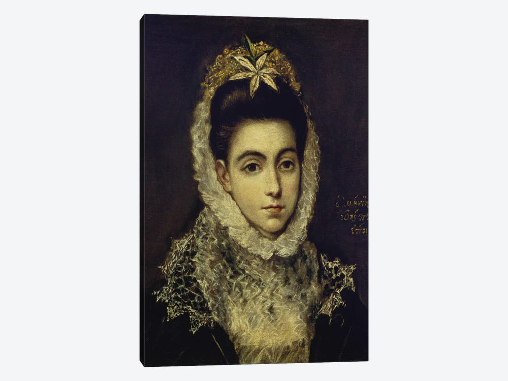 Portrait Of A Young Lady by El Greco 1-piece Canvas Art