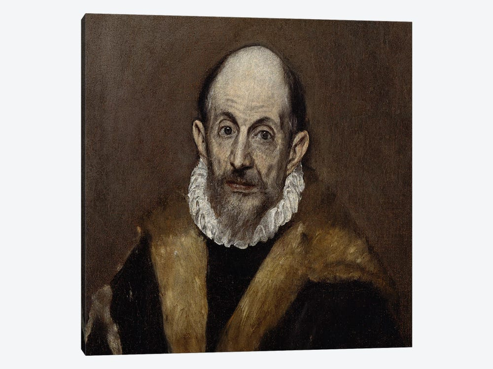 Portrait Of An Old Man, c.1590-1600 by El Greco 1-piece Art Print