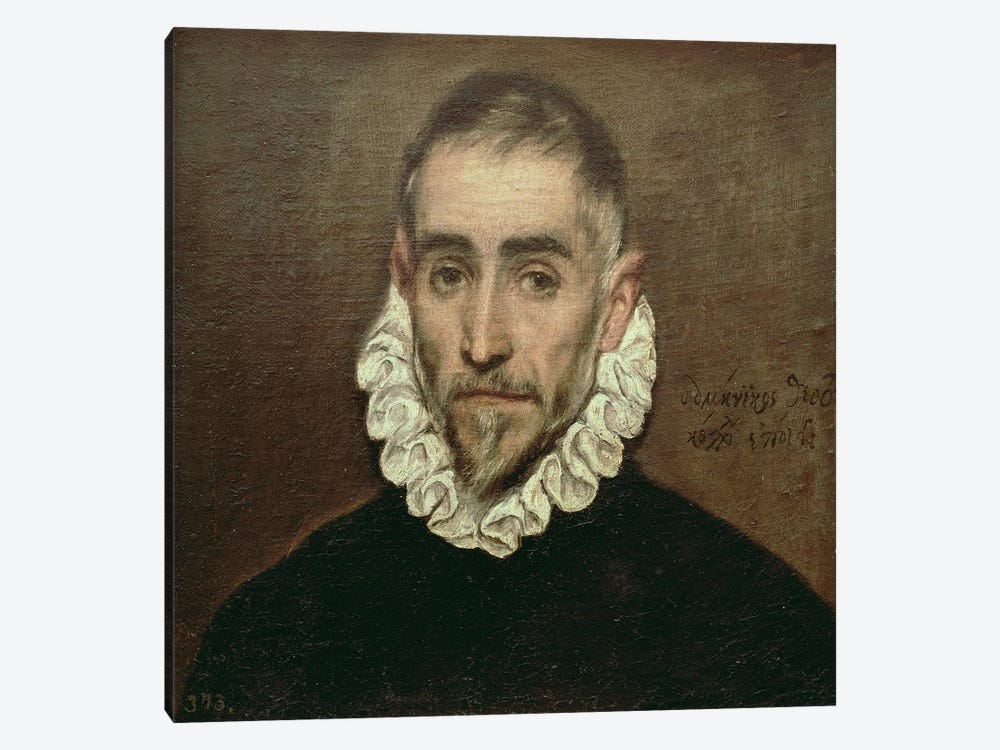 Portrait Of An Unknown Gentleman, c.1594 by El Greco 1-piece Canvas Wall Art