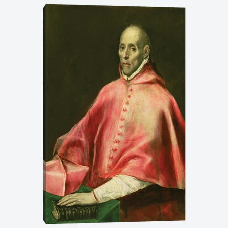 Portrait Of Cardinal Juan de Tavera Canvas Print #BMN6159} by El Greco Art Print