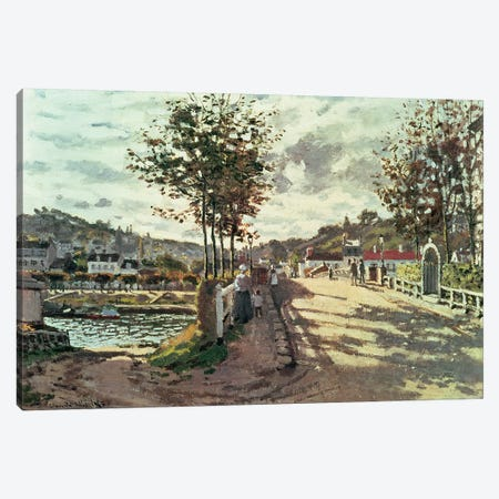 The Seine at Bougival, 1869 Canvas Print #BMN615} by Claude Monet Canvas Wall Art