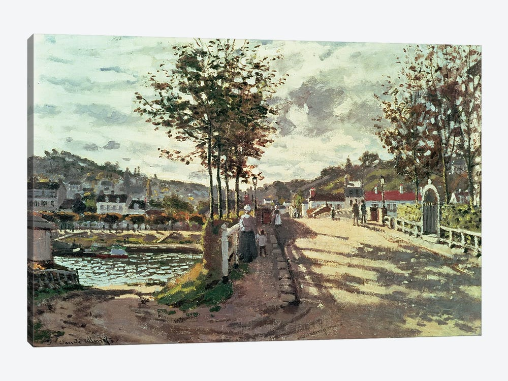 The Seine at Bougival, 1869 by Claude Monet 1-piece Art Print