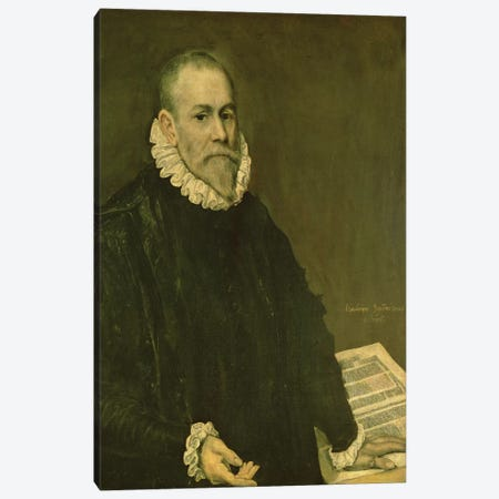 Portrait Of Doctor Rodrigo de la Fuente, 1598-99 Canvas Print #BMN6160} by El Greco Canvas Wall Art