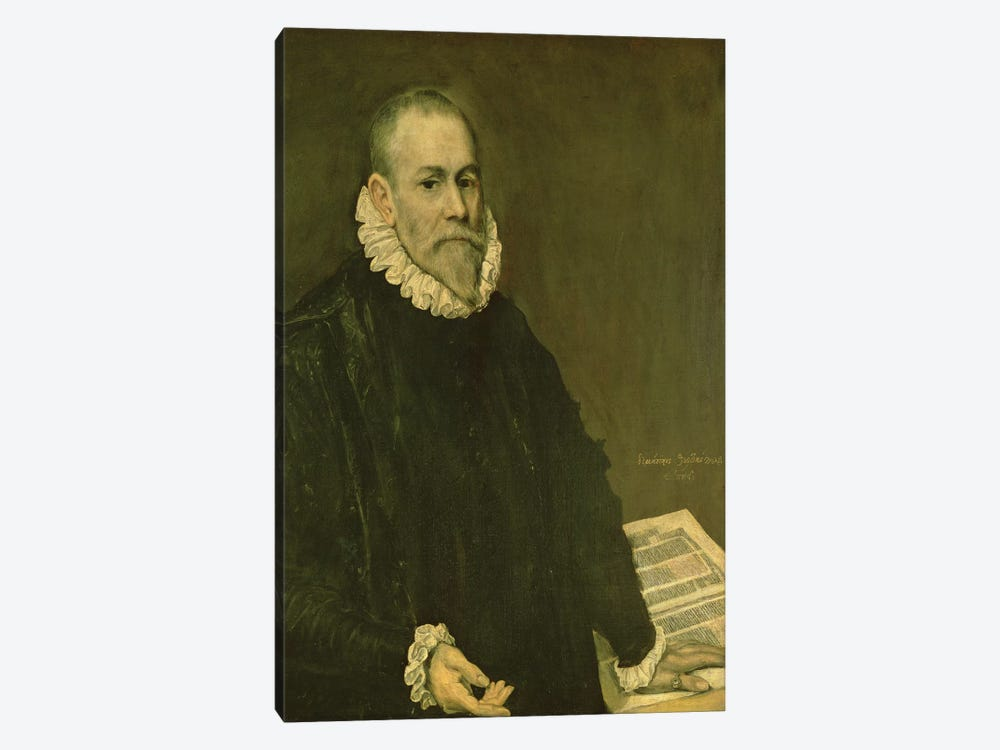 Portrait Of Doctor Rodrigo de la Fuente, 1598-99 1-piece Canvas Art