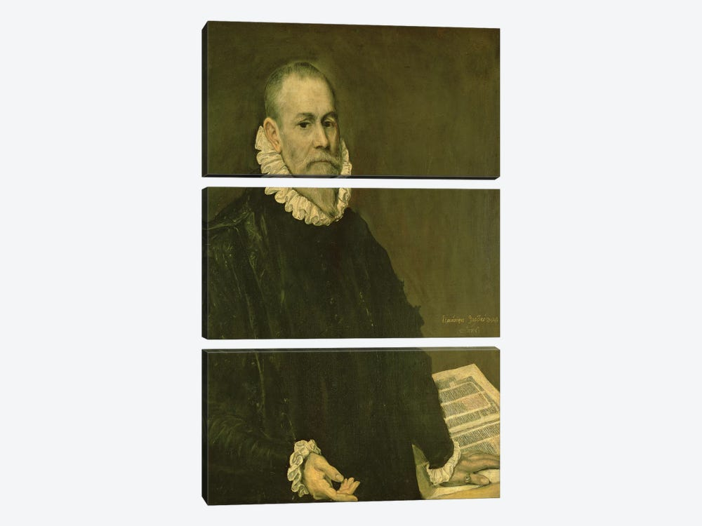 Portrait Of Doctor Rodrigo de la Fuente, 1598-99 3-piece Canvas Wall Art