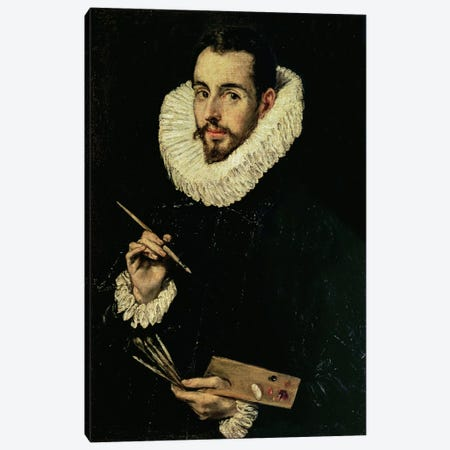 Portrait Of Jorge Manuel Theotokopoulos, 1600-05 Canvas Print #BMN6162} by El Greco Canvas Artwork