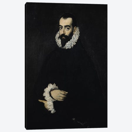 Portrait of Juan Alfonso de Pimentel y Herrera (8th Conde de Benavente) Canvas Print #BMN6163} by El Greco Canvas Art