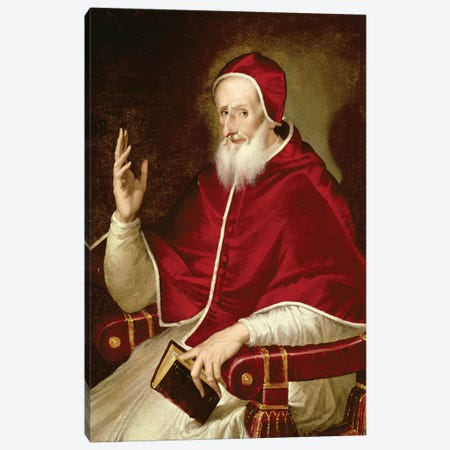 Portrait Of Pope Pius V, c.1571 Canvas Print #BMN6164} by El Greco Canvas Art Print