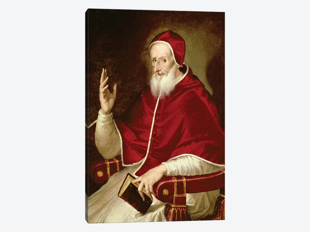 Portrait Of Pope Pius V, c.1571 by El Greco 1-piece Canvas Wall Art