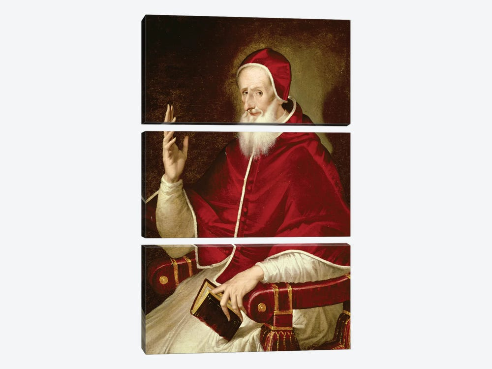 Portrait Of Pope Pius V, c.1571 by El Greco 3-piece Canvas Art