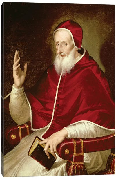 Portrait Of Pope Pius V, c.1571 Canvas Art Print