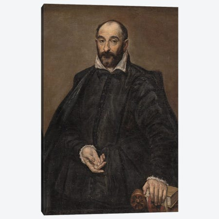 Portrait Of A Man Canvas Print #BMN6165} by El Greco Canvas Art Print