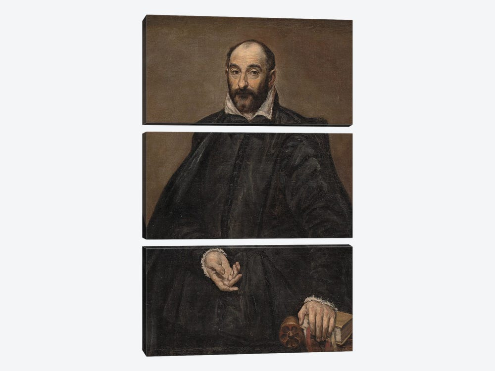 Portrait Of A Man by El Greco 3-piece Art Print