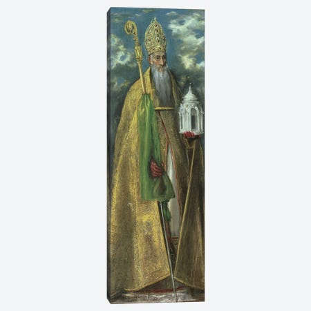 Saint Augustine Of Hippo, 1590 Canvas Print #BMN6166} by El Greco Canvas Art Print
