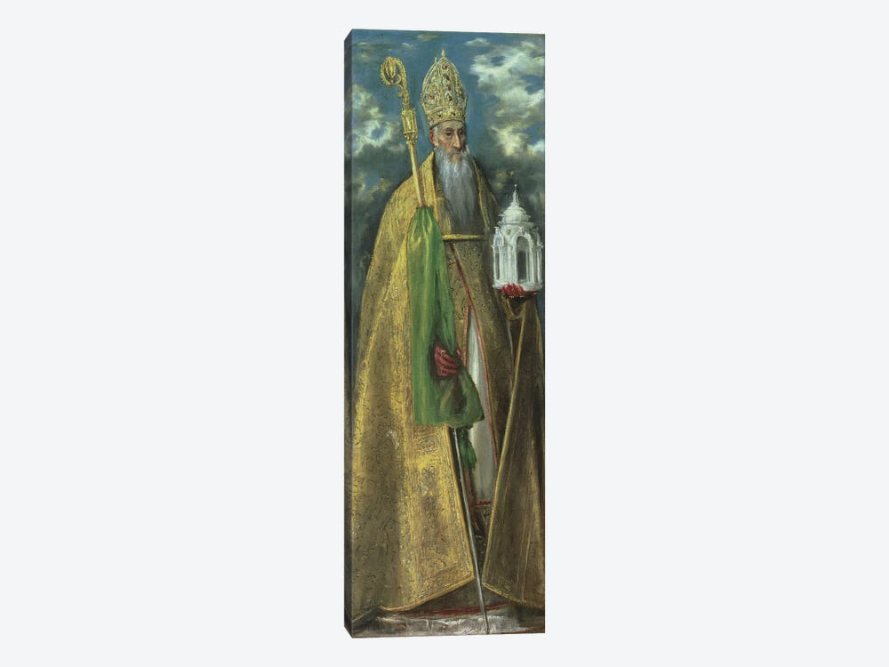 Saint Augustine Of Hippo, 1590 by El Greco 1-piece Canvas Art