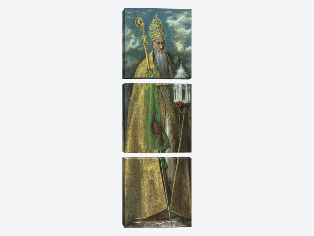 Saint Augustine Of Hippo, 1590 by El Greco 3-piece Canvas Artwork