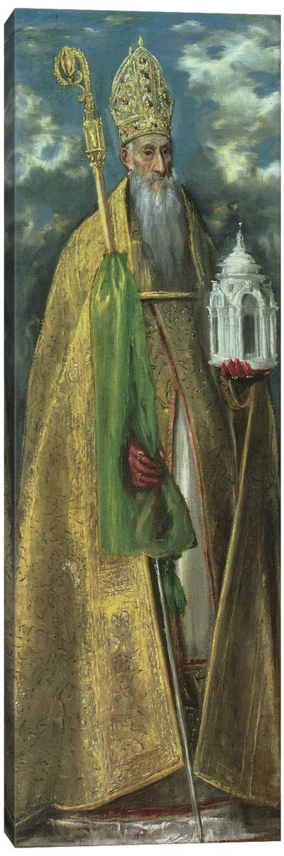 Saint Augustine Of Hippo, 1590 Canvas Art Print